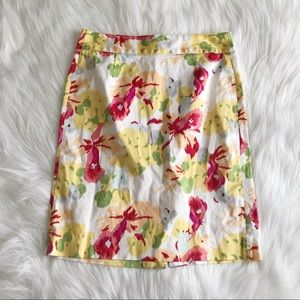 JCREW Floral Pencil Skirt SIZE 4